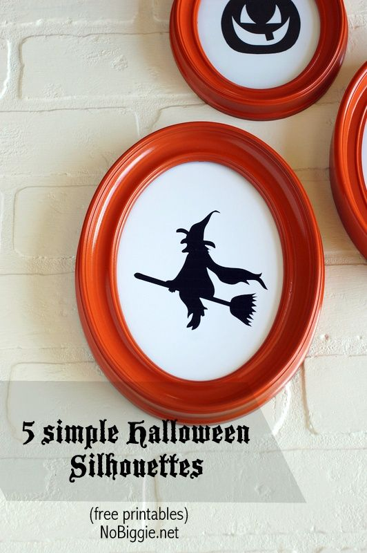 5 simple Halloween Silhouettes (free printables) | NoBiggie.net