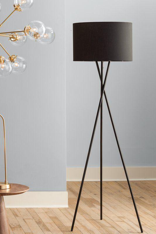Rudy Trepied Lampe De Plancher Lampadaire Blanc Lampes De Sol Modernes Lampe Decoration