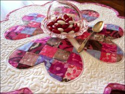 Valentine's Day Table Topper #quilt #tutorial by Deborah Schlegel from Art Threads