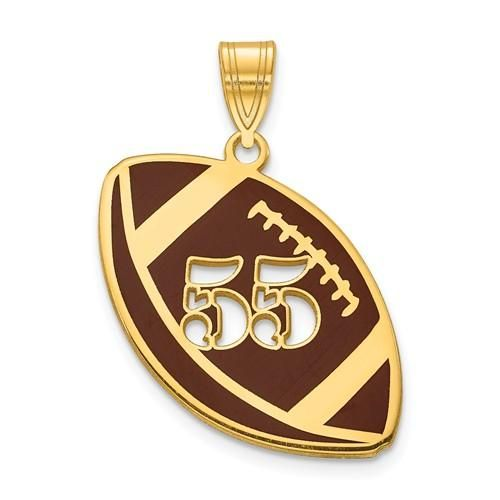 14k 10k Gold Sterling Silver Football Personalized Pendant Charm Personalized Pendant Sterling Silver Pendants Charms