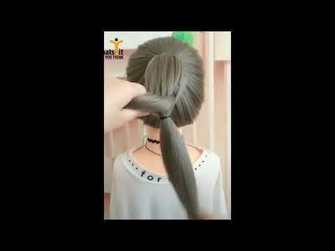 تسريحة سريعة للمدرسة Tasrihat Cha3er 2019 Youtube Hair Styles
