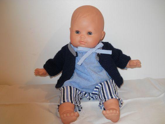 Vêtements poupée bleu marine taille 36cm : Jeux, jouets par bebecoton