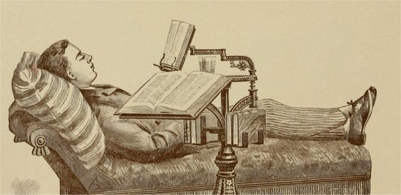 c. 1892: The  Holloway reading stand and dictionary holder
