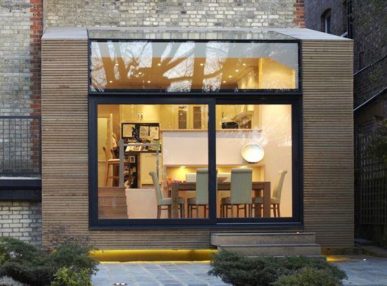 Une extension c t jardin tout en finesse portes for Verriere exterieure prix