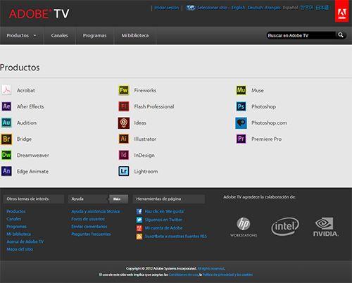 Tutoriales Adobe en español