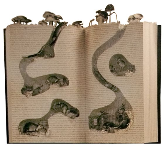 Book Art http://tumblr.bergdorfgoodman.com/post/10822215574/nothing-quite-like-burrowing-into-a-good-book