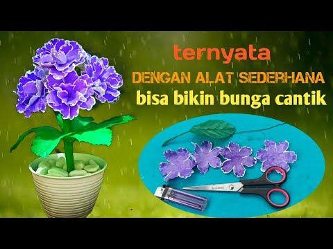 Diy Cara Membuat Bunga Violet Dari Plastik Membuat Bunga Dari Plastik Ide Kreatif Youtube Di 2020 Bunga Kreatif Ide