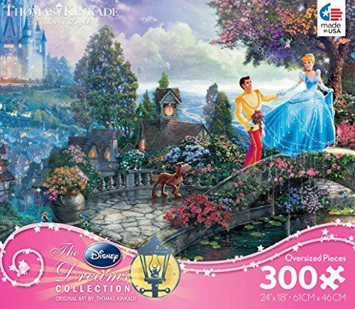 Thomas Kinkade Disney Dreams COLLECTION �Cinderella Wishes Upon A Dream� 300 Piece Jigsaw Puzzle MADE IN USA � The Toy Shop