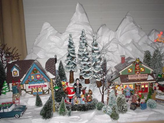 Christmas villages, Snow and Christmas on Pinterest