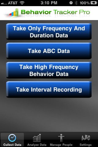 allows BCBAs, behavioral therapists, aides, teachers or parents to track behaviors and automatically graph them