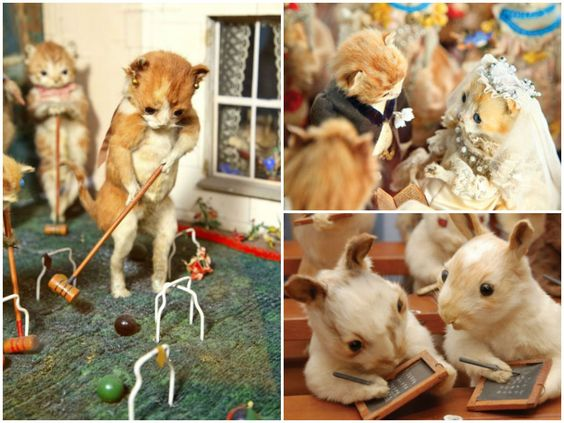 Victorian Taxidermy By Walter Potter Taxidermy Kittens Playing Art Dolls