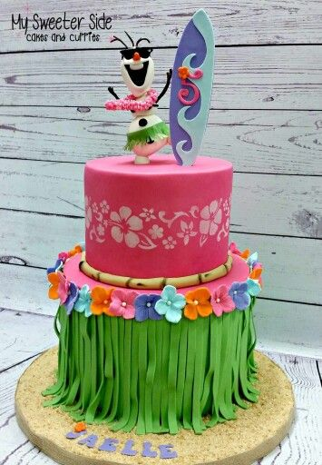 Summer Olaf Hawaiian Cake!