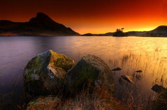 Sunrise at Cregennan Lakes