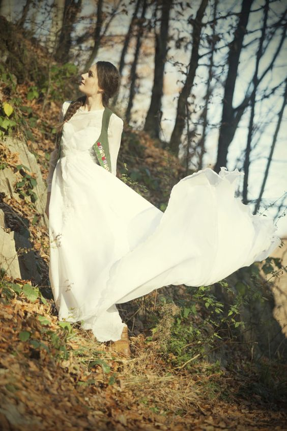 Simple white wedding dressSunset by AtelierDeCoutureJK on Etsy, €159.00