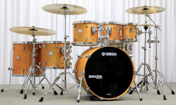 """Bateria Yamaha Maple Custom Antique Natural 22"""",8"""",10"""",12"""",14"""",16"""" Made in Japan : DEPARTAMENTOS - Baterias - Acústicas : Batera Clube : A 1ª Drum Shop Online do Brasil"""