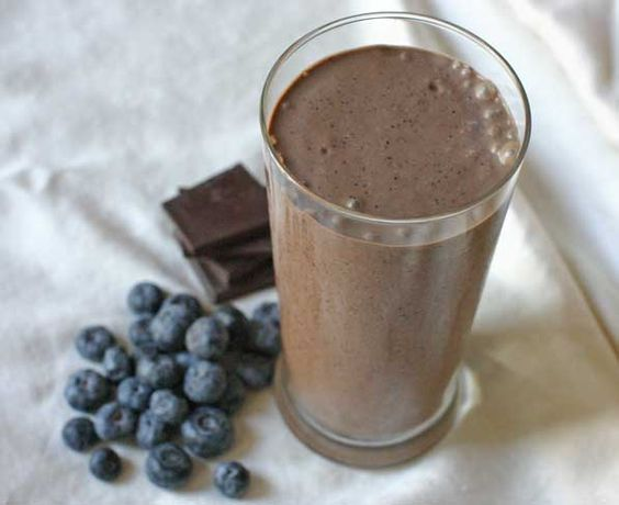 healthy chocolate shake- bananas, chia, raw cocoa & more!