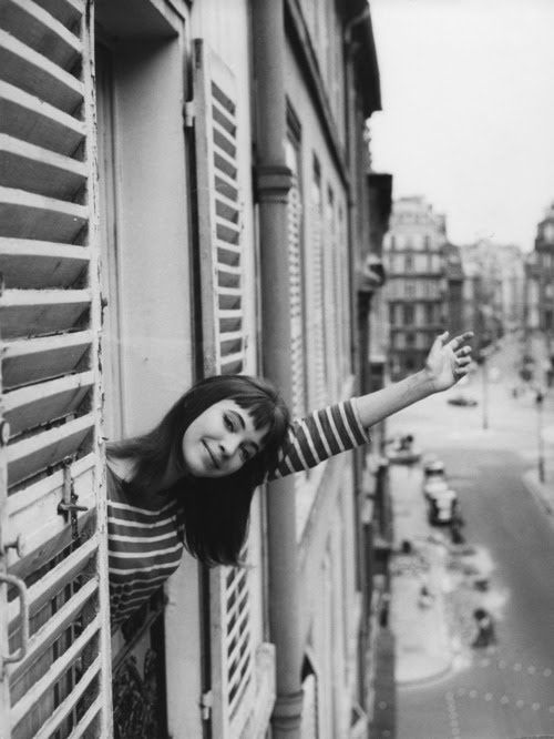 Anna Karina, stripes: