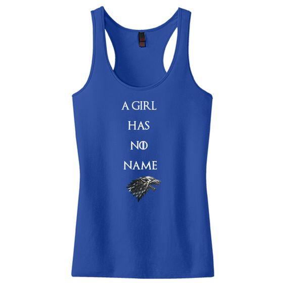 A Girl Has No Name - Direwolf Women's Racerback Tank Top