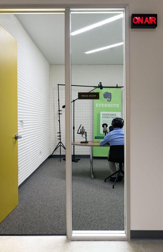 Exquisite Media Room Studio by Evernote
