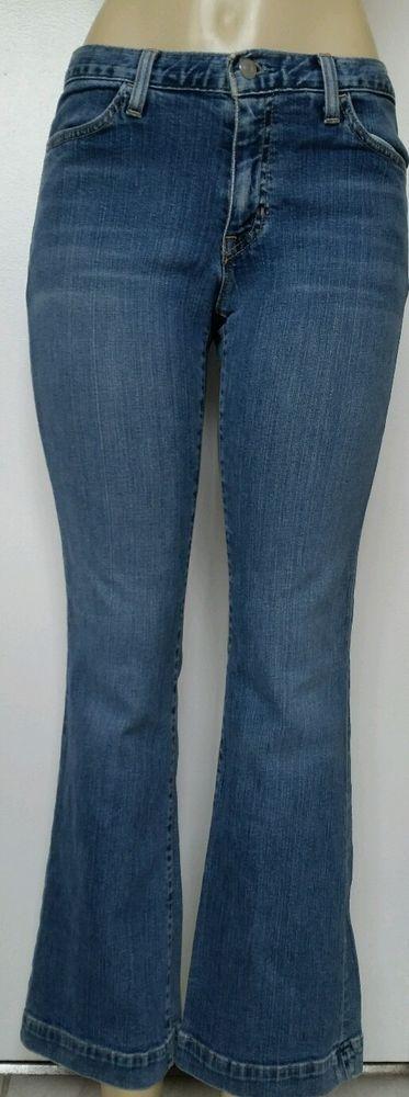 EUC GAP LONG AND LEAN STRETCH Medium WASH JEANS 6 ANKLE Womens Blue #Gap #BootCut