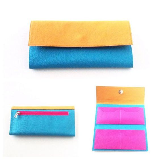 Turquoise Wallet  Womens wallet  Vegan leather by PittiVintage