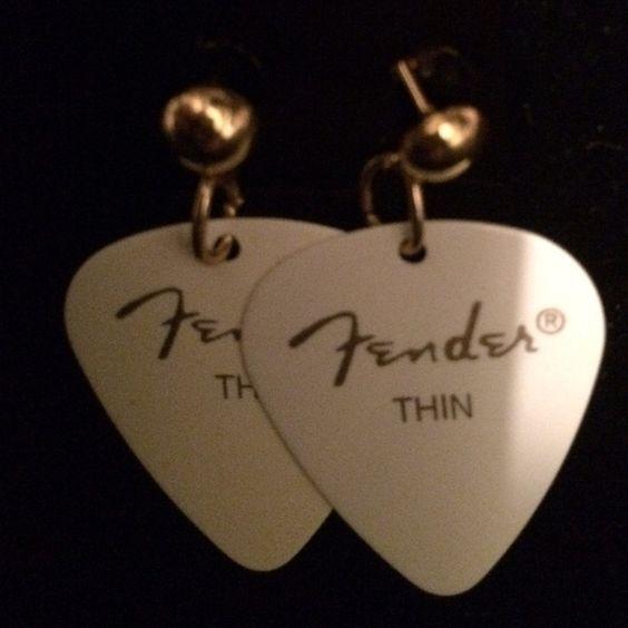 Guitar pick earrings Handmade by yours truly Jewelry Earrings