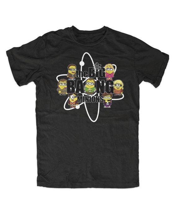 Big Bang Minion T-Shirt sheldon bazinga minions howard cooper in Kleidung & Accessoires, Herrenmode, T-Shirts | eBay