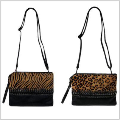 Sacs besace bandoulière Vimoda léopard ou zébré chez cpourl.fr #sacamain #léopard # zébre #chaine #CpourL