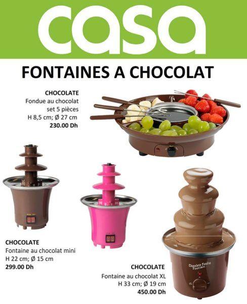 fontaines a chocolat fondue au