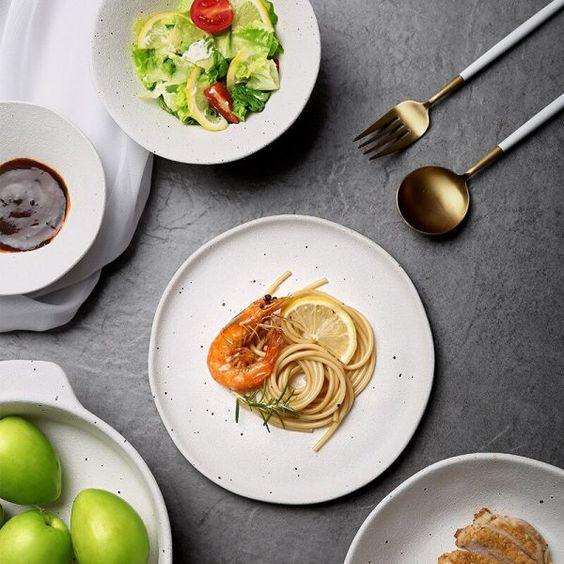 961 40 Rub 50 Kinglang Nordicheskaya Belaya Matovaya Otdelka Keramicheskie Tarelki Obedennaya Chasha Optom In 2020 Dinner Bowls Dinner Plates Dinner