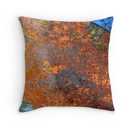 Steel Rusted Plate pillow
