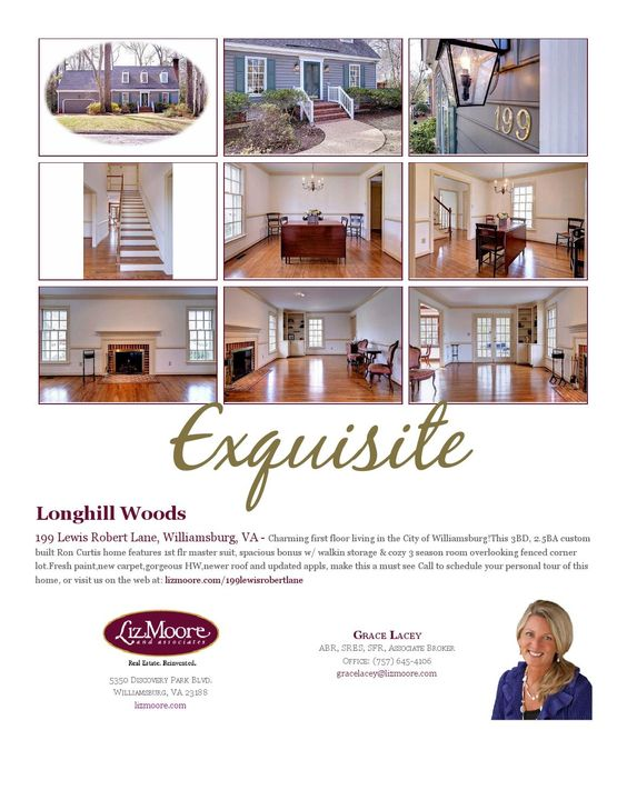 Feature Sheet 101 Vaiden Drive Williamsburg Va 23188 Liz Moore And  Associates
