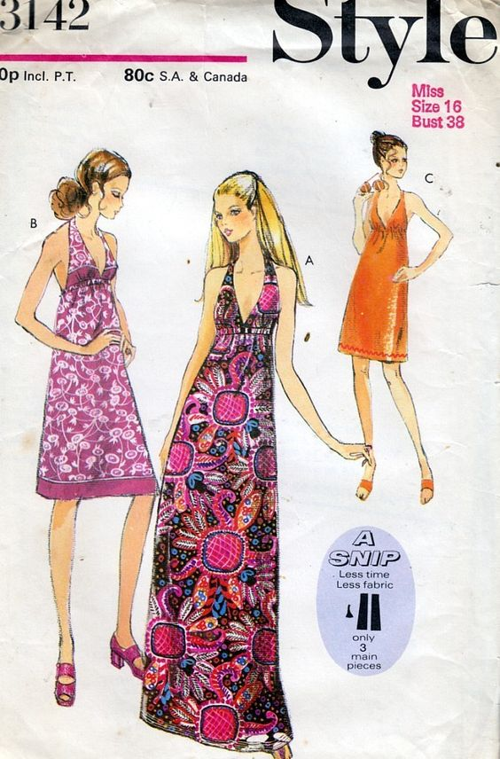 Images of Halter Maxi Dress Pattern - #SpaceHero
