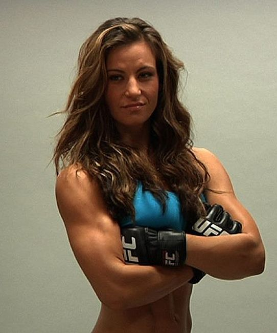 Female MMA fighter Miesha Tate-- inspiration! Woman power! Try to beat the mess out of Ronda Rousey next time, please!