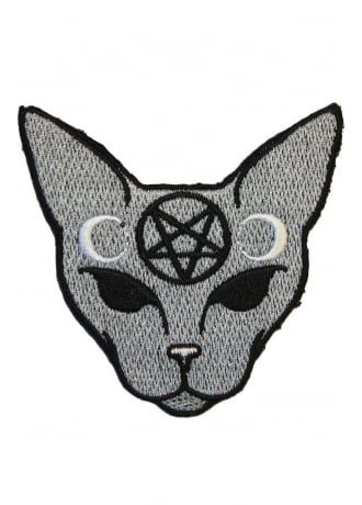 Extreme Largeness Goth Cat Patch, £1.99