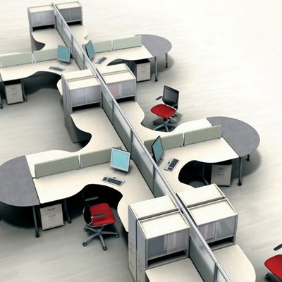 Office furniture cubicles and spaces on pinterest for Modern office furniture systems