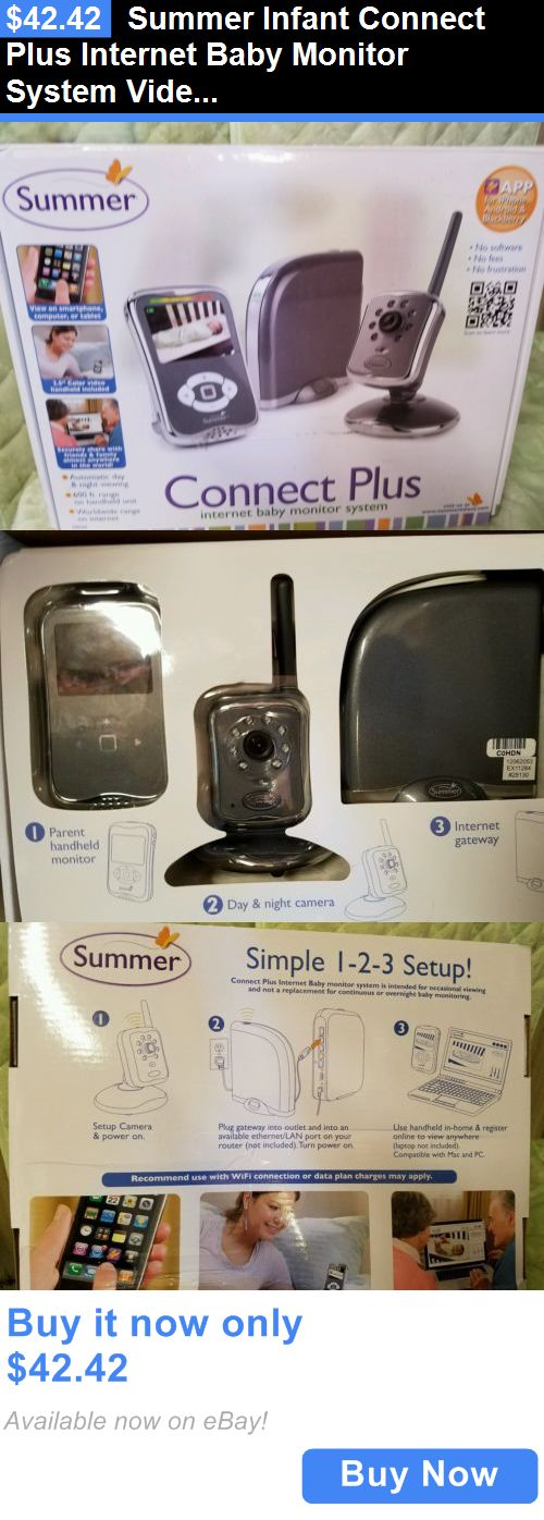 baby kid stuff: Summer Infant Connect Plus Internet Baby Monitor System Video Wifi Camera New BUY IT NOW ONLY: $42.42