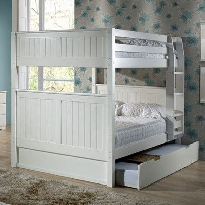 Camaflexi Traditional Camaflexi Full over Full Bunk Bed with Trundle & Reviews | Wayfair