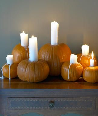 Candles in pumpkins