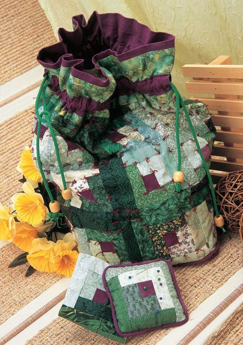 tied tidy (doesn't have to be patchwork but it is awesome that way!)