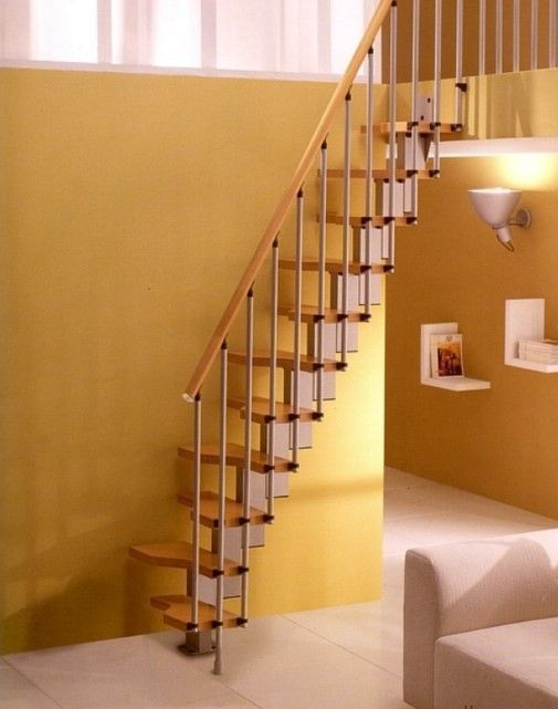 26 Clever Spiral Stair Ideas For Small Space Stairs Design | Clever Stairs For Small Spaces | Staircase | Upstairs Small Space | Front Window | Small Area | Mini