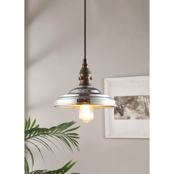 Vintage Farmhouse 1-light Chrome Pendant