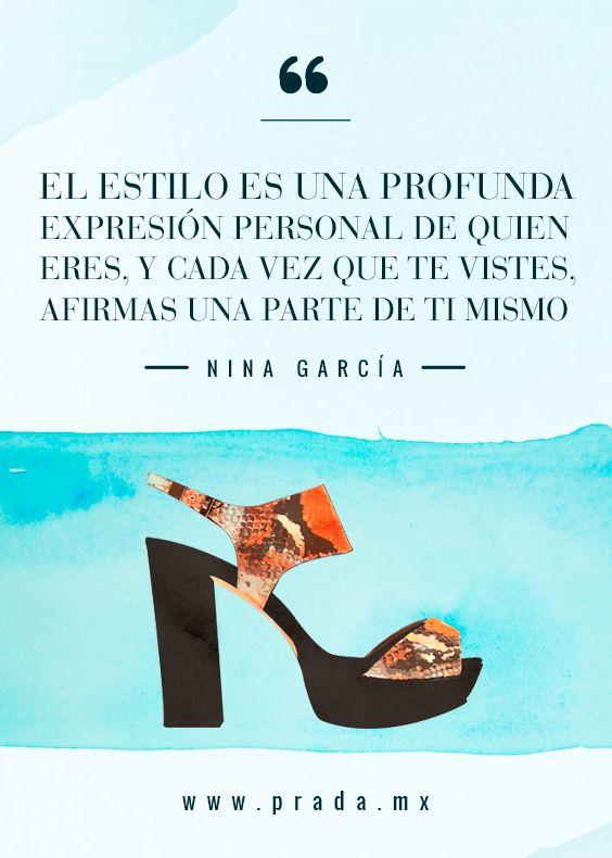 © La elegancia de ser tú mismo.