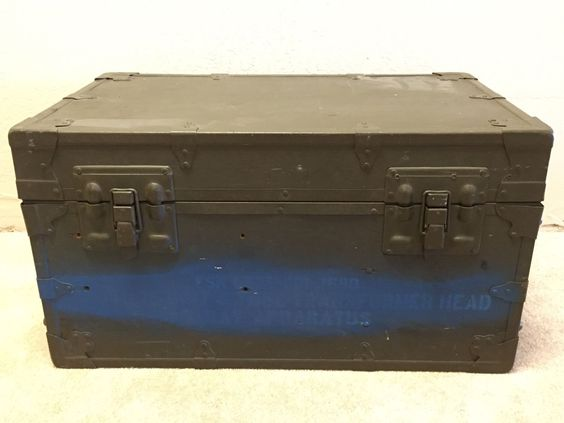 Foot Locker Storage Chest Glamorous Vintage Us Military Army Brown Xray Equipment Foot Locker Trunk Design Decoration