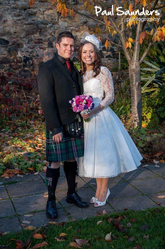 short wedding dress with chantilly lace bolero