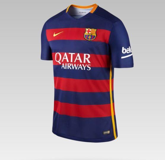 2015/16 FC Barcelona Match Home pas cher prix promo Maillot de Foot Homme Nike Store 120,00 € TTC