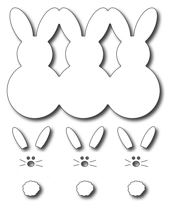 Frantic Stamper Precision Die - Marshmallow Bunnies,$14.99