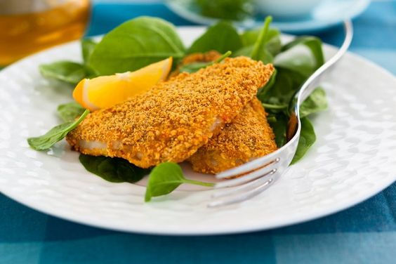 Oat-rolled fish