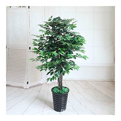 Zxc Home Artificial Plants Greenery 160cm Banyan Tree Potted Plants Bonsai Indoo 160cm Artificial B In 2020 Indoor Tree Plants Artificial Plants Fake Plants Decor