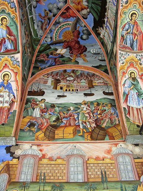 Frescoes, Nativity Church, Rila Monastery, Bulgaria by David, via Flickr